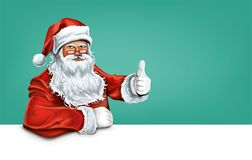 Santa Claus. New Year`s character. Celebratory background. Santa Claus is a New Year character. Kind, loves children and gives them gifts. New Year`s greetings Stock Photography