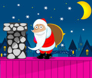 Santa Claus New Year's Eve Royalty Free Stock Photography