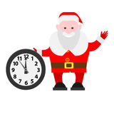 Santa Claus next to the clock Stock Photography
