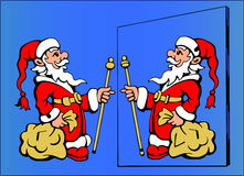 Santa Claus No 1- Find the ten differences. Find the ten differences - Santa Claus No 1 Stock Photo