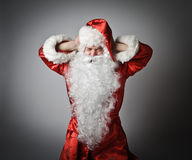 Santa Claus and noise. Stock Image
