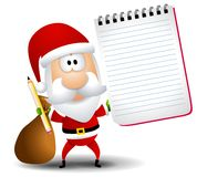 Santa Claus Notepad Pencil Royalty Free Stock Photography