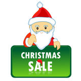 Santa claus notice Royalty Free Stock Photos