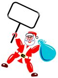 Santa claus with notice board Stock Photos
