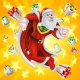 Santa Claus o herói do Natal Imagem de Stock
