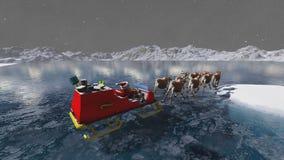 Santa Claus och hjortar Royaltyfri Fotografi
