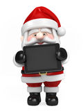 Santa Claus och holdingtablet royaltyfri illustrationer