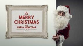 Santa Claus och julönska Fotografering för Bildbyråer
