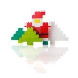 Santa Claus och julgran som göras från en formgivare Arkivfoto