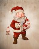Santa Claus och mekanisk docka vektor illustrationer