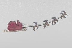 Santa Claus och snöväder Arkivbilder