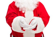 Santa Claus offering something Stock Photography