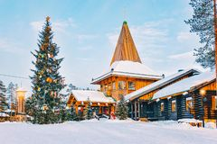 Santa Claus Office a Santa Claus Village in Rovaniemi Lapponia fotografia stock