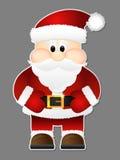 Santa Claus op een grijze achtergrond wordt geïsoleerd die. Stock Afbeelding