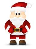 Santa Claus op een witte achtergrond wordt geïsoleerd die. Stock Afbeelding