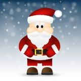 Santa Claus op een witte achtergrond wordt geïsoleerd die. Royalty-vrije Stock Foto