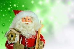 Santa Claus op Kerstmisachtergrond Royalty-vrije Stock Foto
