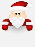 Santa Claus op witte achtergrond. Royalty-vrije Stock Fotografie