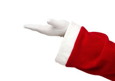 Santa Claus open hand stock image