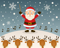 Santa Claus Orchestra Leader royaltyfri illustrationer