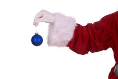 Santa Claus with ornament Stock Images