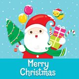 Santa Claus With Ornament For Christmas Royalty Free Stock Image