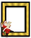 Santa Claus Ornament Frame. Image and illustration composition of Santa ornament frame for card or background Stock Image