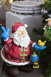 Santa Claus Ornament for the Holiday Festivities Stock Photos