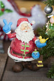 Santa Claus Ornament for the Holiday Festivities Stock Photo