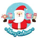 Santa Claus And Ornaments Character Design Photos libres de droits