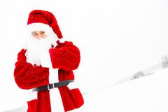 Santa Claus Out In The Snow royalty free stock photography