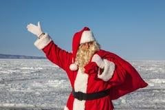 Santa Claus  outdoors Royalty Free Stock Photography