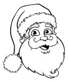 Santa Claus Outline Stock Photo