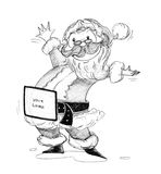 Santa Claus outstretched arm Stock Photos
