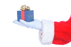Santa Claus Outstretched Hand with Present Stock Photos