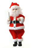 Santa Claus Over White Stock Images