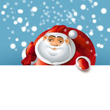 Santa Claus over white blank Stock Photography