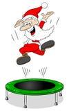 Santa Claus på en rebounder Royaltyfri Fotografi