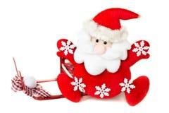 Santa Claus på en vit bakgrund Arkivfoton