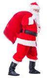 Santa Claus på gå Royaltyfria Foton
