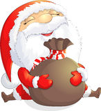 Santa Claus painted on a white background Royalty Free Stock Image