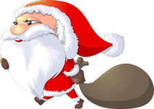 Santa Claus painted on a white background Stock Image