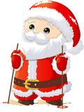 Santa Claus painted on a white background Stock Photos