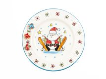 Santa Claus painting on plate Stock Images