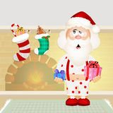 Santa Claus with pajama Royalty Free Stock Image