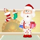 Santa Claus with pajama. Illustration of Santa Claus with pajama Royalty Free Stock Image