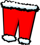 Santa claus pants vector illustration. Vector illustration of a pair of santa claus pants Stock Image