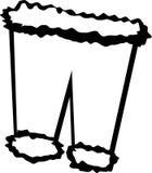 Santa claus pants vector illustration Royalty Free Stock Photos