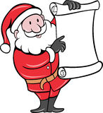 Santa Claus paper scroll list Stock Photography