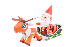 Santa Claus papercraft Stock Image